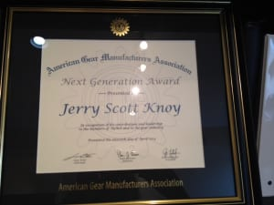 "The Next Generation award from AGMA ""honors individuals who, while early in their career, are emerging as contributors, innovators and/or leaders in the gear industry and who serve as role models for others in the next generation of the gear industry,"" according to the AGMA Awards Committee"