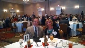 Scott and his wife Holly Knoy at the event