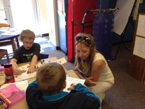 Claudia Hambleton volunteering