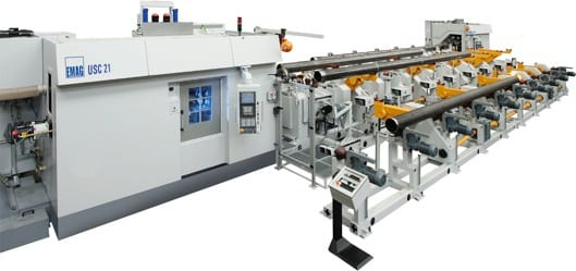 Specially optimized for the thread cutting of delivery pipes and casings: the USC series of machines from EMAG