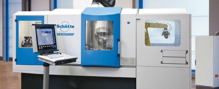 New Schütte 325linear cylindrical grinding system features extended x-y paths plus two auxiliary slides