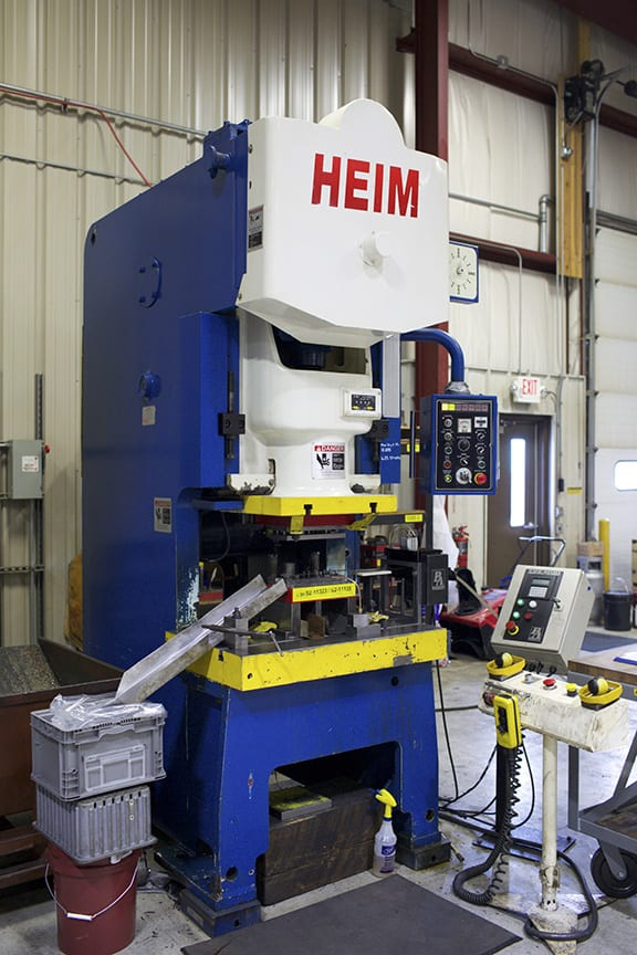 Heim 80-ton stamping press at Ultratech
