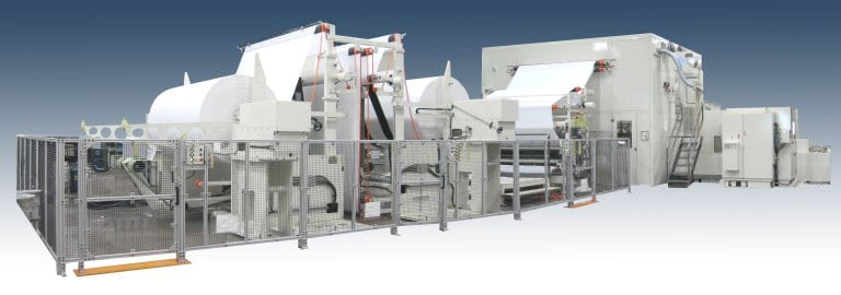 Bretting paper converting machine, utilizing all Siemens controls, including motors, drives, PLC and motion controller plus related software.  Bretting builds machines for various paper converting operations such as napkins, interfolded paper towels, bathroom roll and boxed facial tissues.