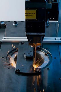 Operating costs are cut in half with the fiber laser on the new ELC 160 laser welding machine.
