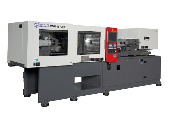 Niigata MD110S7000 horizontal all-electric injection press, NPE Booth W-1363