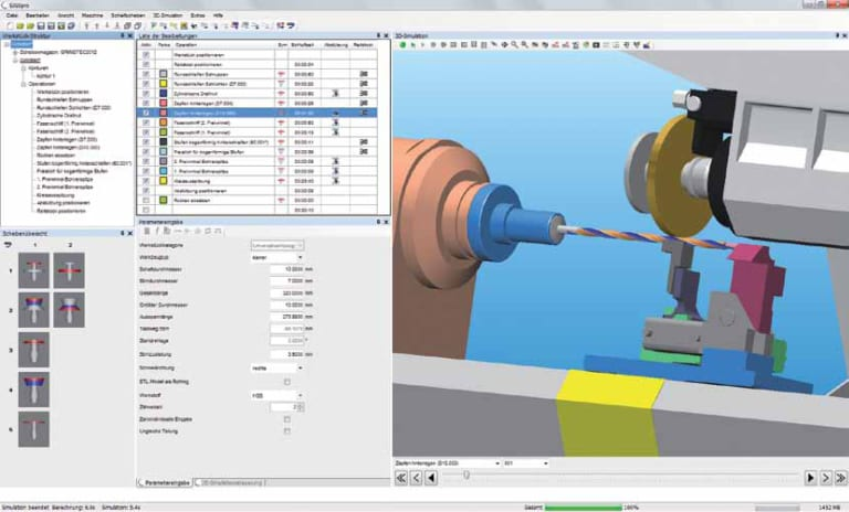 SIGSpro (Schütte Integrated Grinding Software) enables full 3D simulation of the entire cycle, either on the HMI or offline, for improved estimating and safety concerns