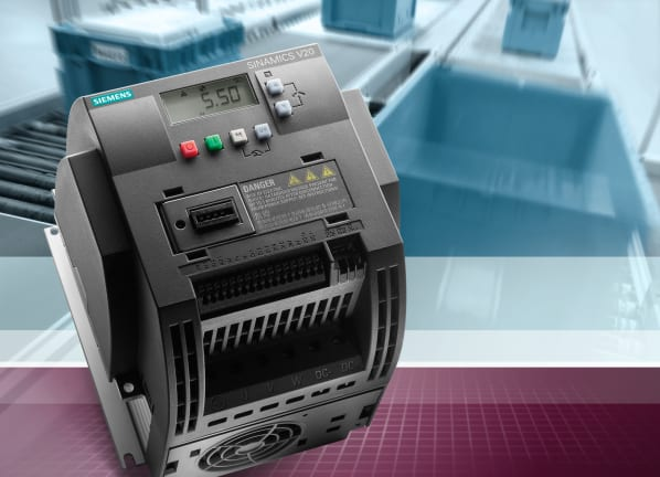 With its new Sinamics V20 drive, Siemens offers a single-axis drive for basic applications, which is easy-to-install, easy-to-operate and makes it easy to save money