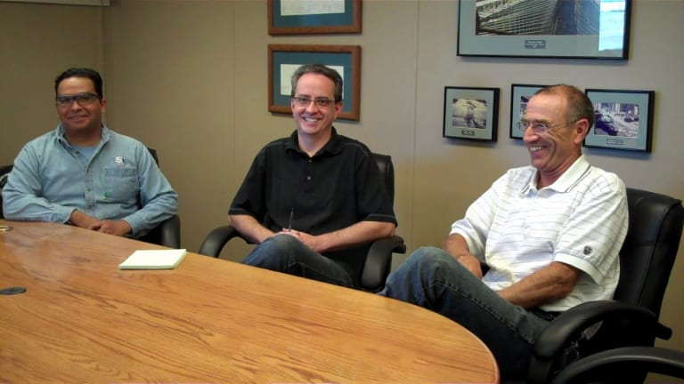 Spokane Employees Discussing MAGMASOFT's benefits – Antonio Melendez, Design Engineer, David Jolin, Quality Assurance Manager, Rod Grozdanich, Technical Director