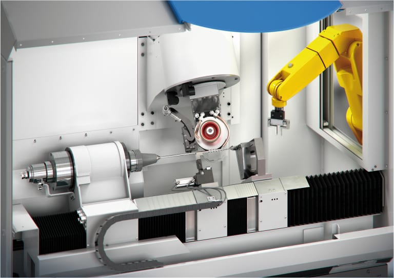 Optional robotic handling, wheel changing and tool magazines allow the same machine scalable automation in use