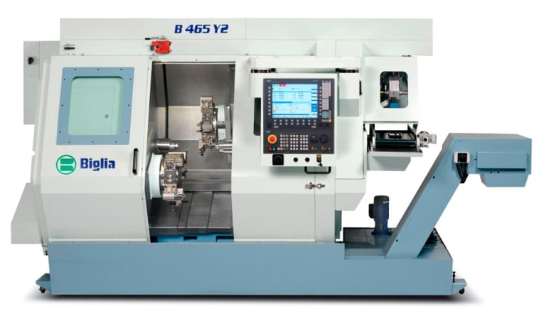 Biglia has equipped its turning centers of the Quattro series with the Sinumerik 840D sl CNC control.  The individual machines have 11 to 15 NC axes.