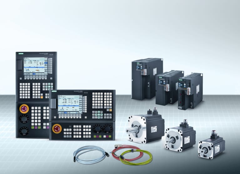 Siemens Industry, Inc. presents its new Sinumerik 808D Advanced CNC with compatible motors, drives and cabling, in vertical or horizontal variants for basic  milling and turning machines