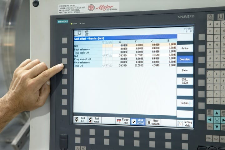 Work offsets for compound angles can be scaled and rotated using the Frames function of the Siemens SINUMERIK Operate interface. Many advanced machining operations can be managed simply, without the use of time-intensive manual G-code programming.