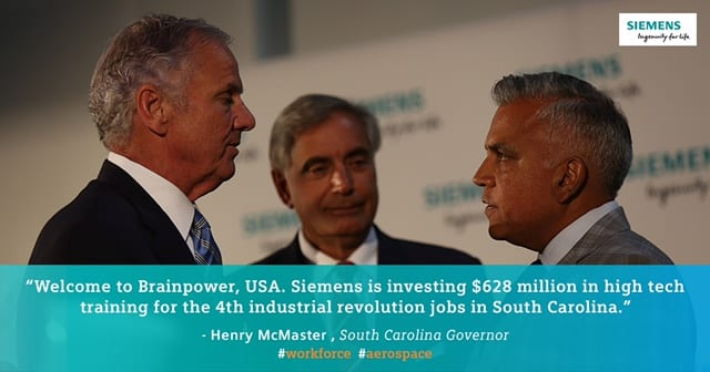 Siemens has partnered with the University of South Carolina to help South Carolina become the smartest manufacturing state in the U.S.