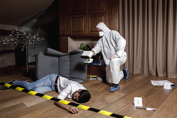 Exact Metrology scanning crime scene
