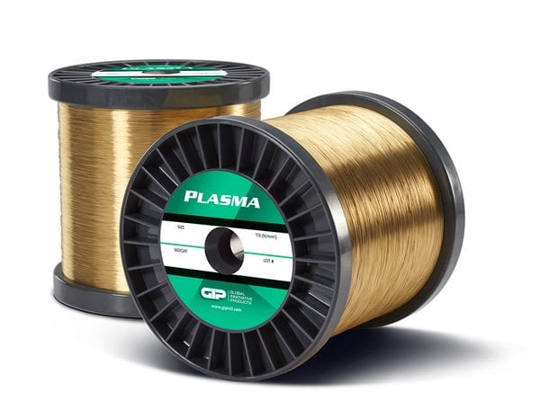Proprietary hybrid PLASMA coated brass wire from GIP