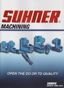 Suhner Machining brochure front