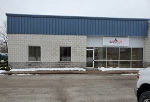 Photo of the outside of the new Exact Metrology office