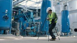 Leica laser scanner used in industrial environments