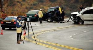 Leica laser scanner used at scene of car accident