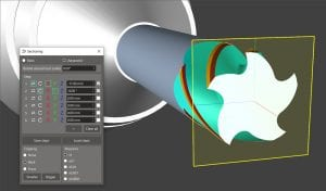 ANCA CIM3D Software advanced sectioning plane