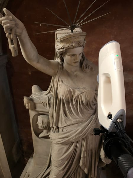Liberty of Poetry scanned by Artec Eva - 3d scan