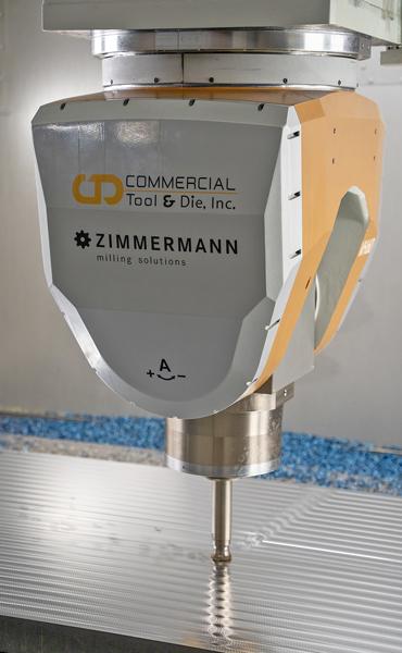 Zimmermann's FZ40c shaving the metal on the mold