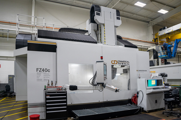 A Zimmermann FZ40c in use at Commercial Tool & Die