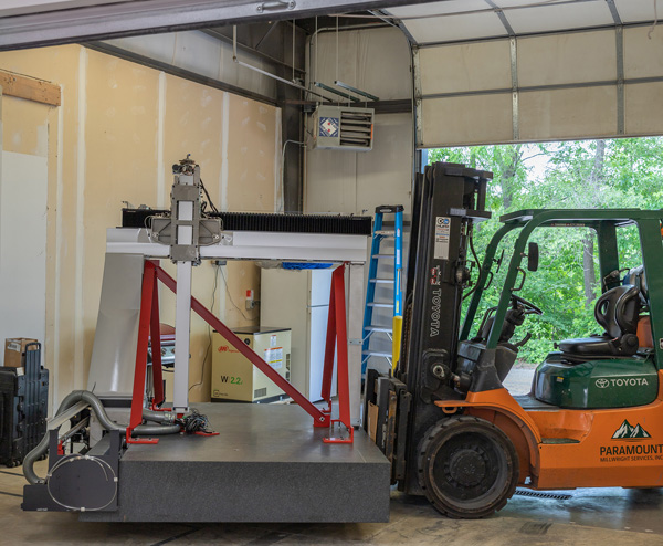 Arrival of the new CMM in Moline